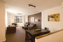 Oaks Goldsbrough Apartments Living Room - Sydney Apartment Hotel