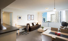 Living Area - One Bedrooom Apartment Mantra Chatswood