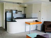 Living & Kitchen Area - Sussex Serviced Apartments