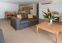 Two Bedroom Living Room - APX Apartments Parramatta