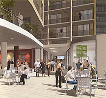 External Shopping Area - Meriton Parramatta Apartments