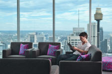 Apartment Lounge and View - Meriton World Tower Apartments Hotel
